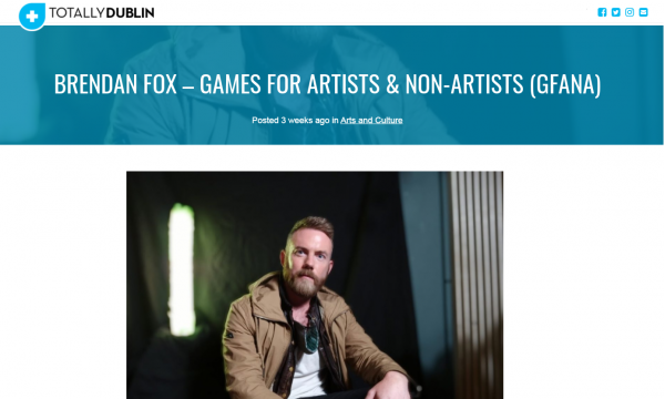 Totally Dublin Interview with Brendan Fox, MOE Curator